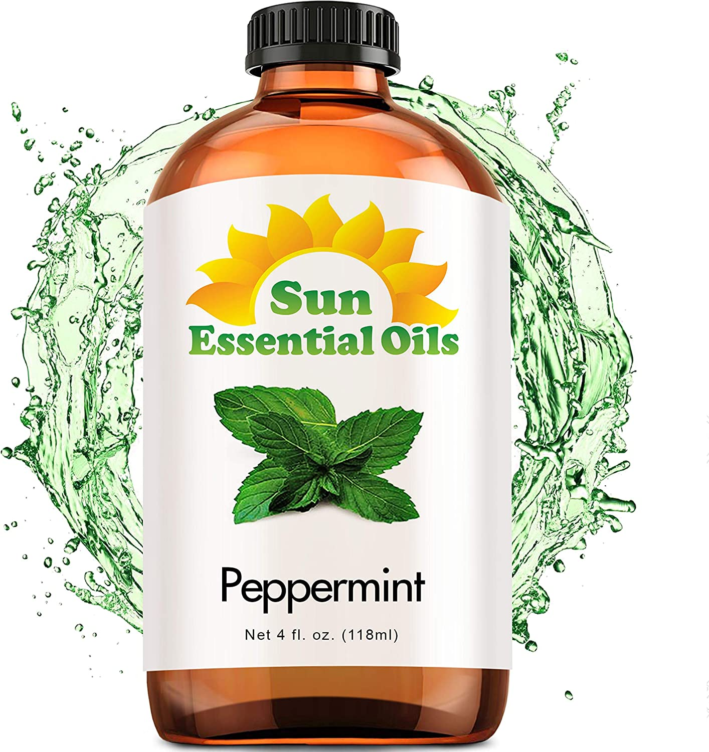 Best Peppermint Oil (Large 4 Oz) Aromatherapy Essential Oil for Diffuser, Burner, Topical, Useful for Hair Growth, Headaches, Skin, Home Office, Indoor, Mentha Piperita, Mint Scent: Beauty