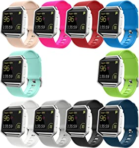 Blaze Bands Set without Frame, UMTELE Sport Silicone Replacement Strap for Blaze Smart Fitness Watch