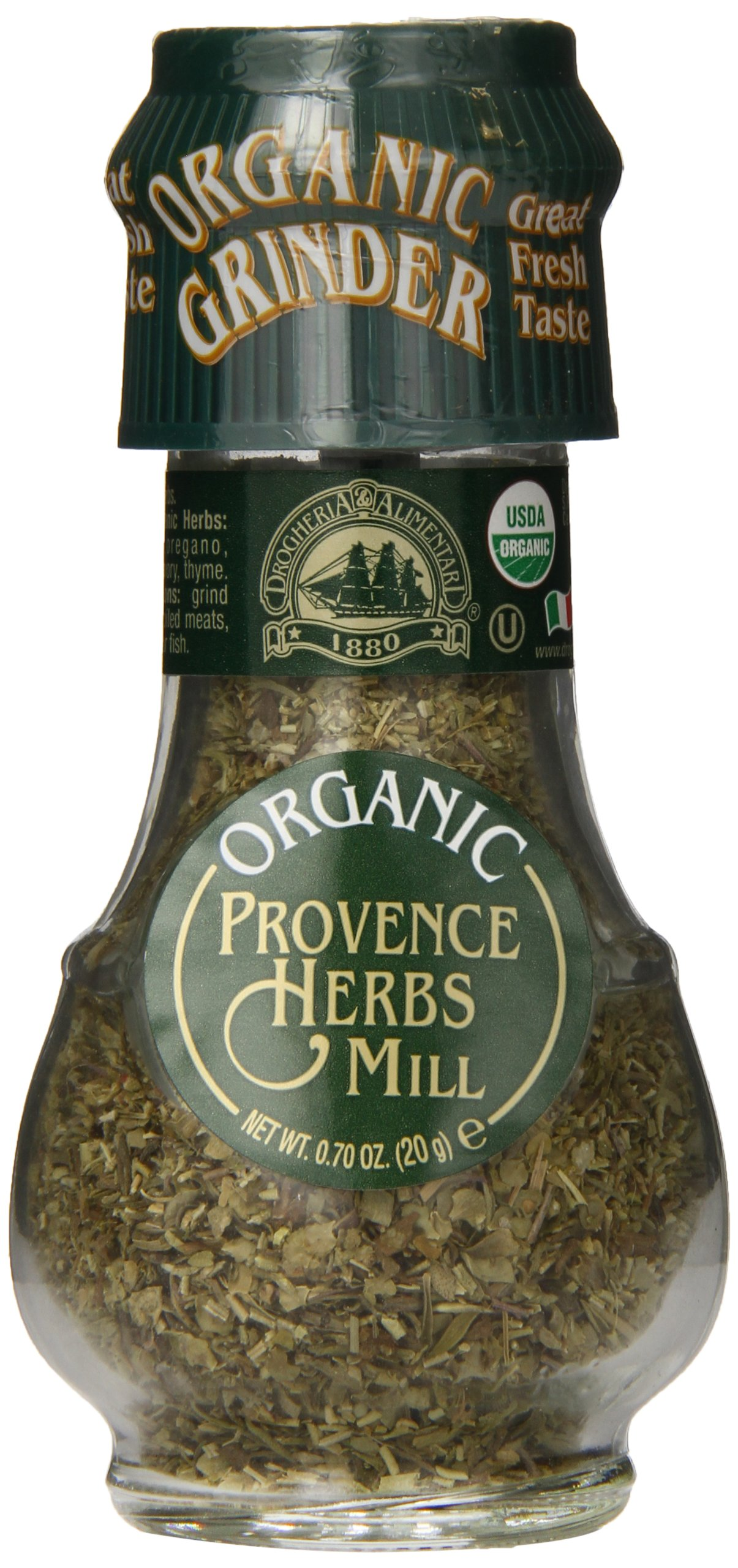 Drogheria & Alimentari Provence Herbs Spice Grinder, All Natural, 0.7 Ounce (Pack of 72)