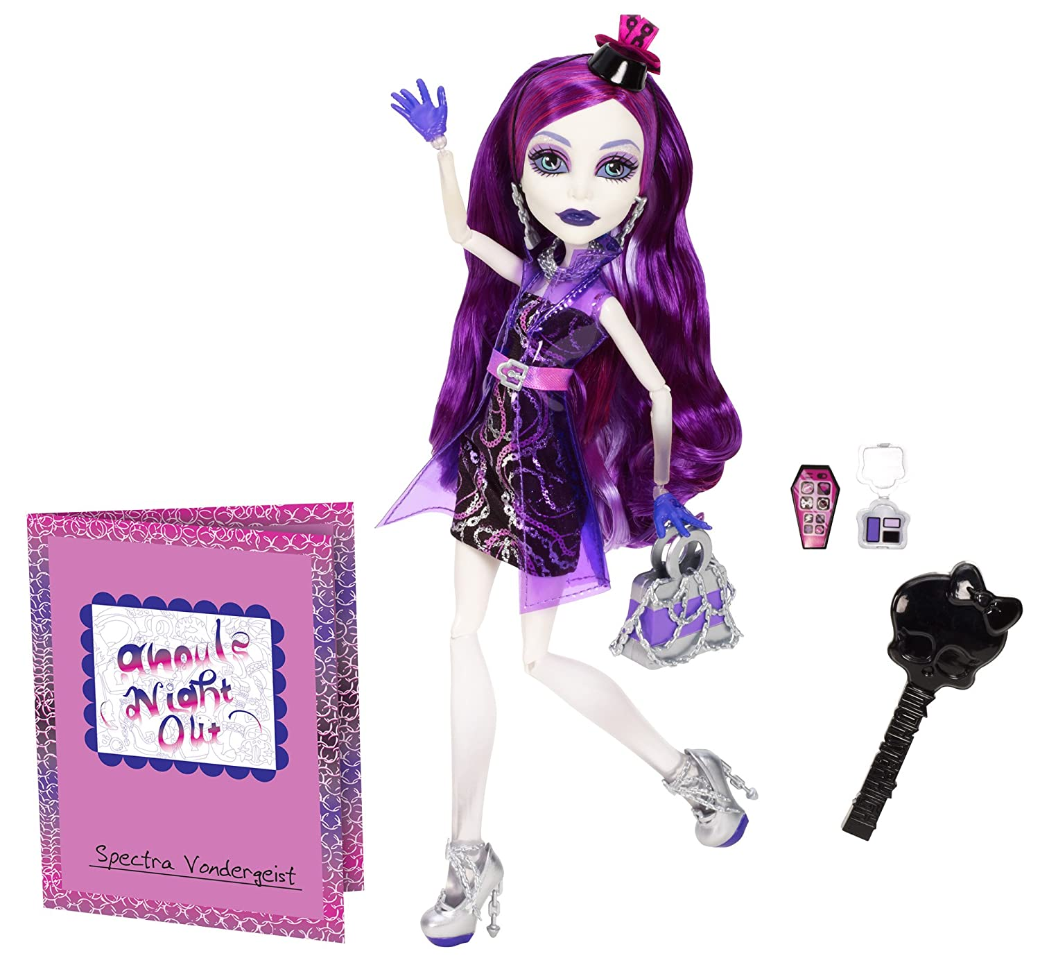 Uncategorized Monster High Spectra Doll amazon com monster high ghouls night out doll spectra vondergeist toys games