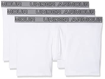 Under Armour Charged Cotton 6in 3Pk Ropa Interior, Hombre, Blanco (102),