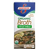Swanson Organic Broth, Vegetable, 32 oz (Pack of 12)