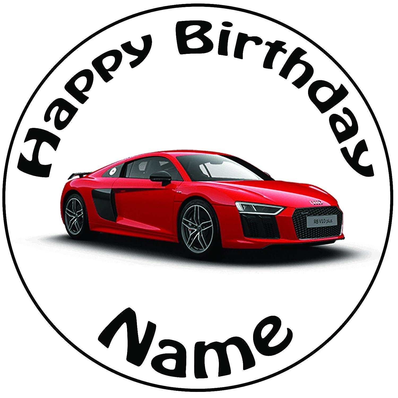 Personalisierter Roter Audi Zuckerguss Kuchen Topper