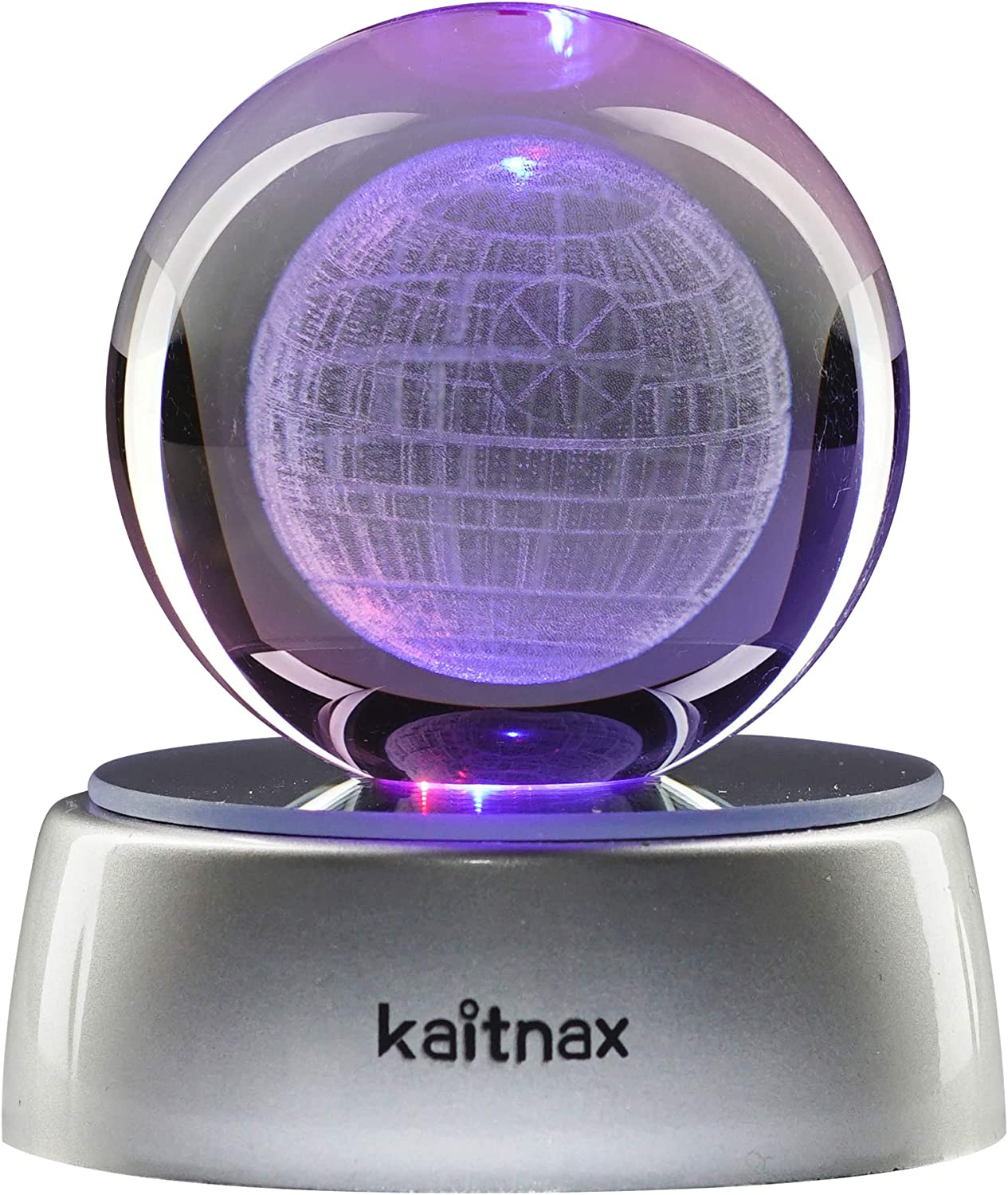 3D Laser Etched Crystal Ball(50mm) Puzzle with LED Base (Death Star)