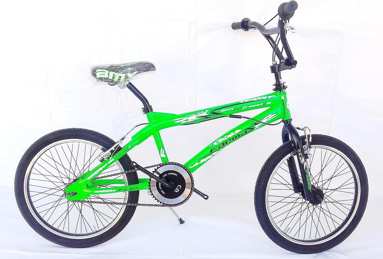 FAEMA - Bicicleta Freestyle 20 de Acero, Color Verde Fluorescente: Amazon.es: Deportes y aire libre