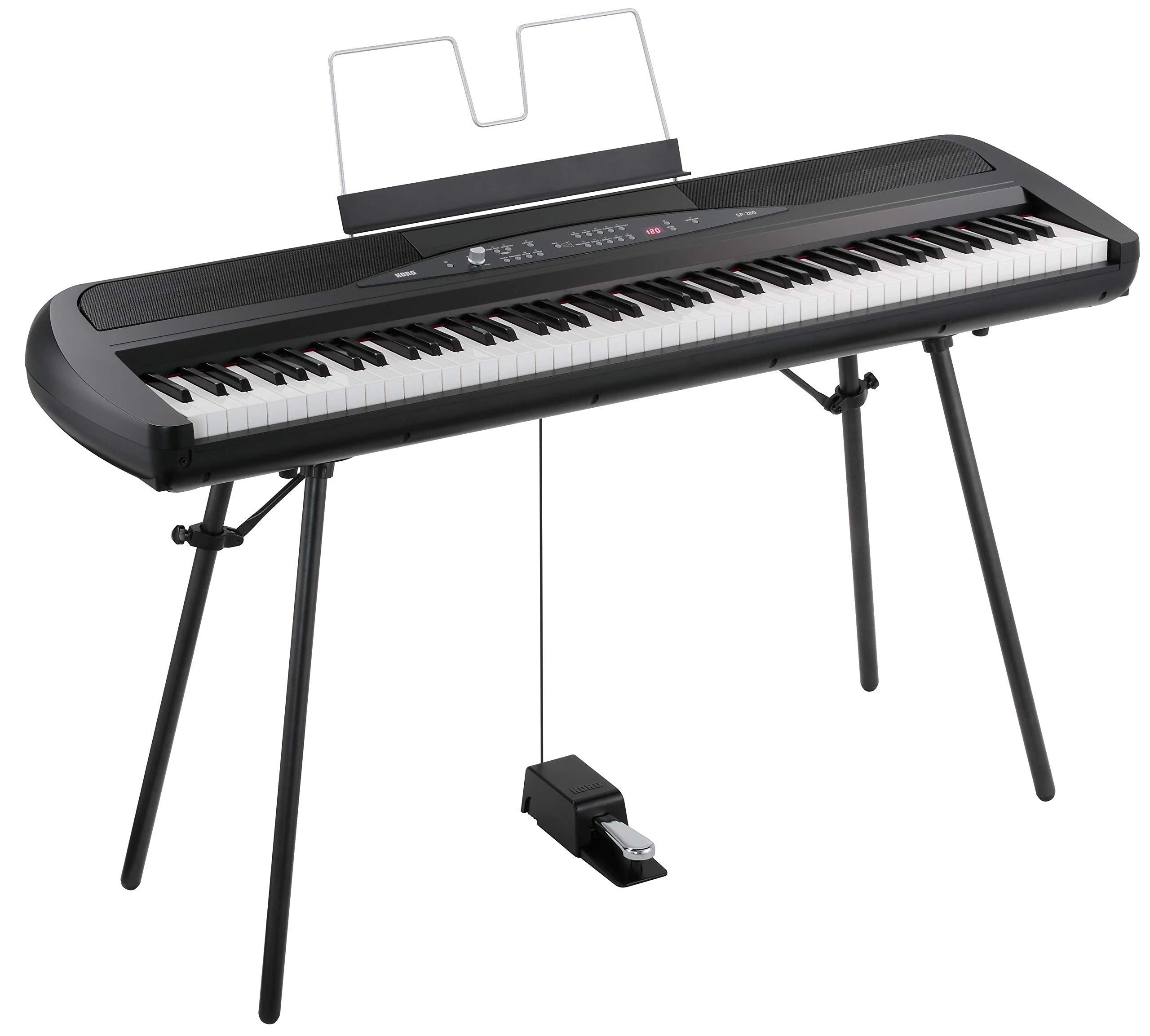 Korg SP280BK 88-Key Digital Piano with Speaker by Korg
