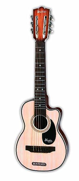 Bontempi-20 Guitarra Folk de Madera con 6 Cuerdas, Multicolor, 70 ...