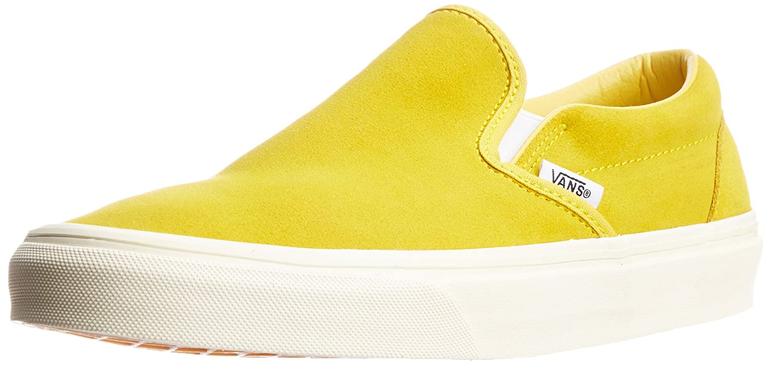 9d87ccbcb4 Vans Men s Classic Slip-on Vintage Suede Sulphur Canvas Boat Shoes - 9 UK   Buy Online at Low Prices in India - Amazon.in