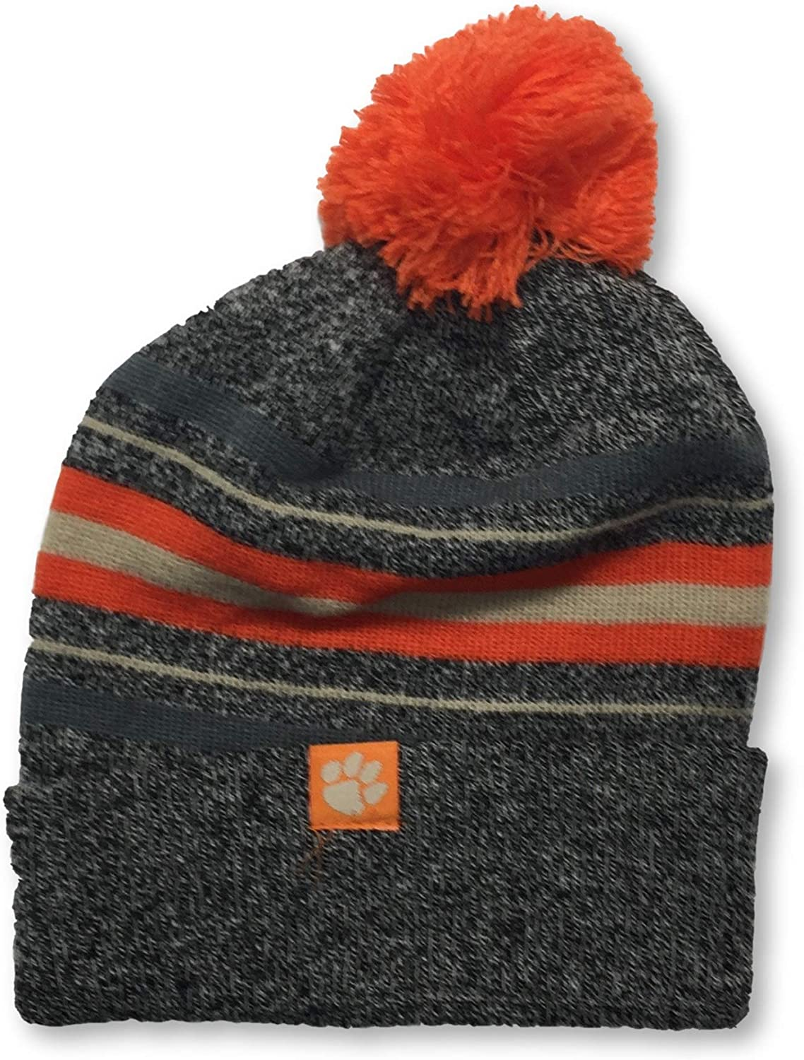 Top of the World Clemson Tigers Cuffed Pom Beanie Knit Adult Cap Hat