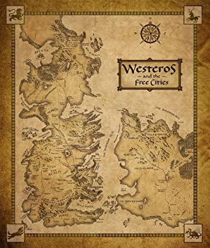 Game of thrones westeros free cities world map tv show art wall game of thrones westeros free cities world map tv show art wall poster print one gumiabroncs Images