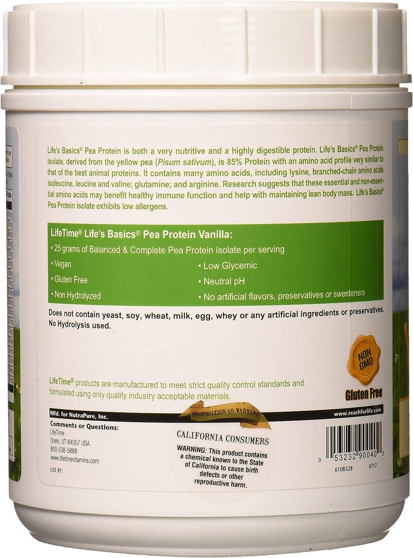 Lifetime Life s Basics Pea Protein Powder, Natural Vanilla Flavor 1.2lb