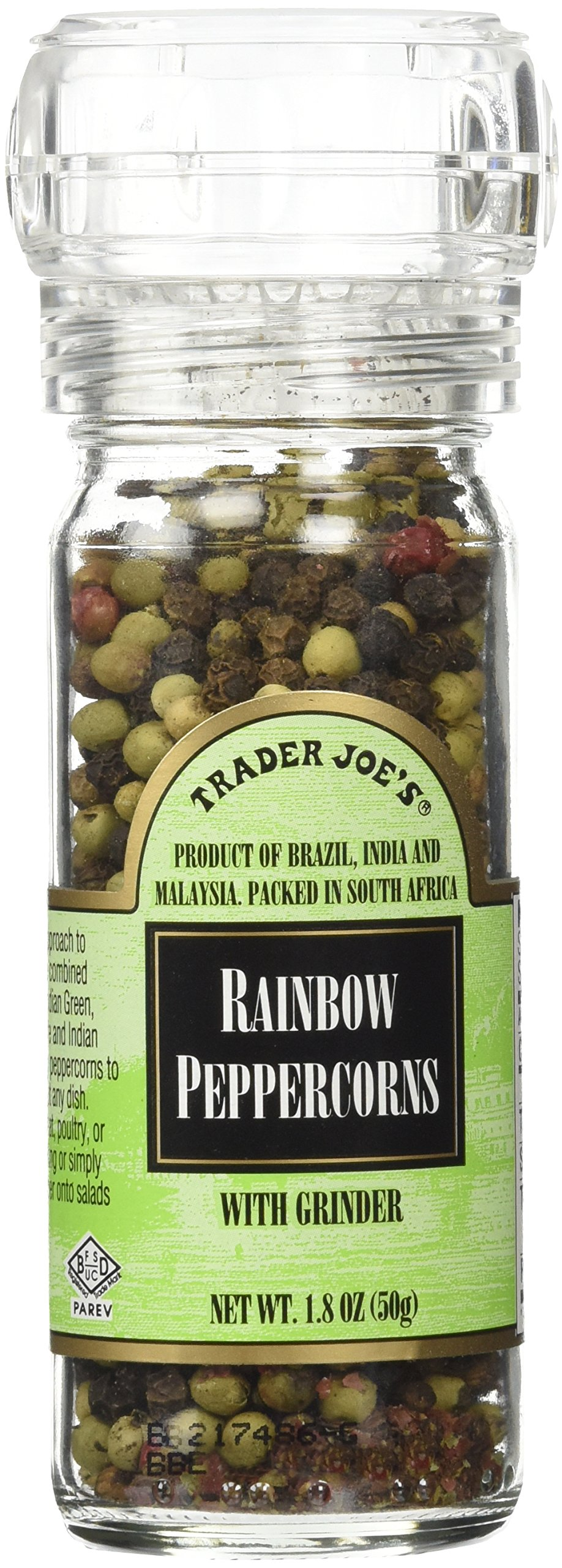 Trader Joe's Rainbow Peppercorns Pepper with Grinder (2 Pack)