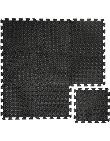Eyepower Suelo de Gimnasio de Goma EVA 10mm de Grosor Esterilla Puzle 9 Piezas Cada una