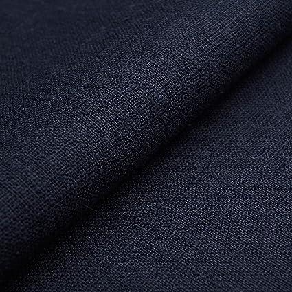 Auténtico Lino Ecológico BASIC - Tela de lino natural y pura - Por metro (Azul