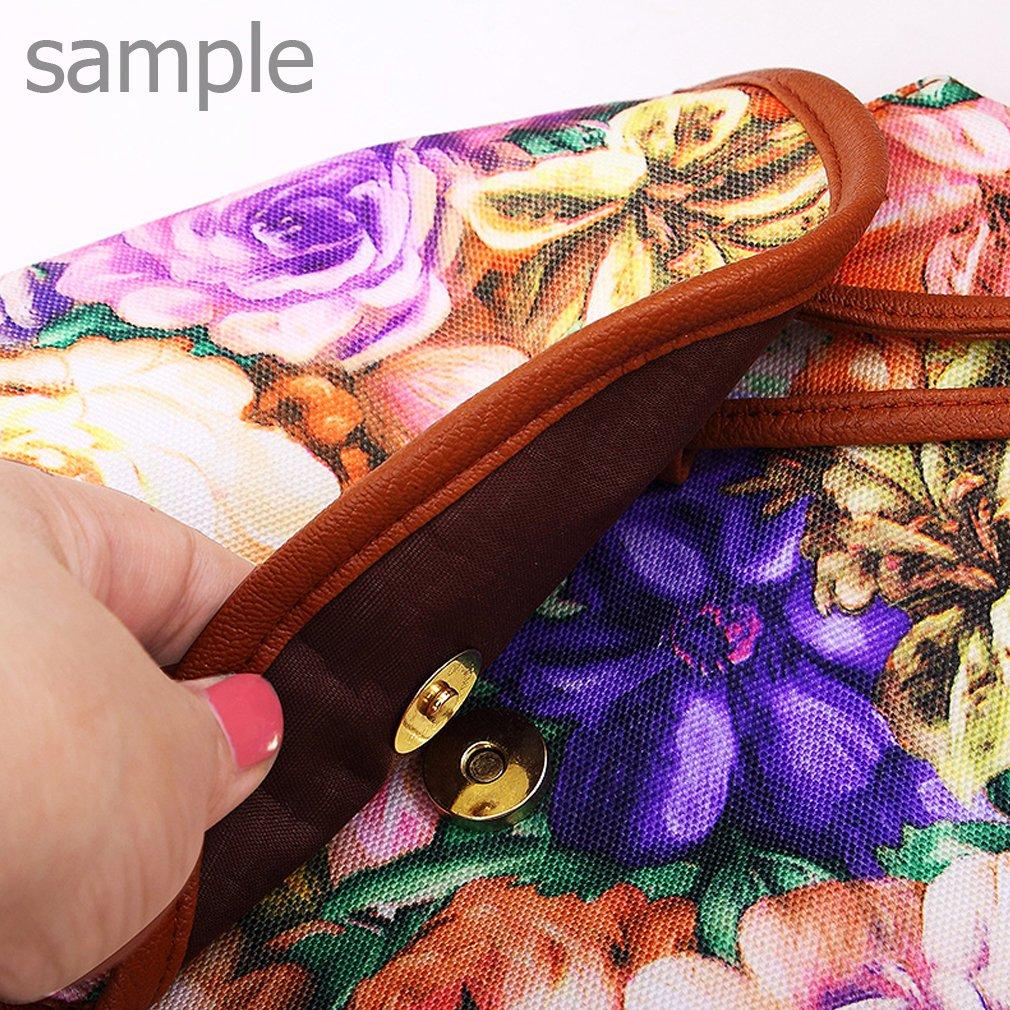 YISUMEI Canvas Waterproof Schoolbag Bookbags Backpack Travel Bag Aztec Tribal Pattern Blue