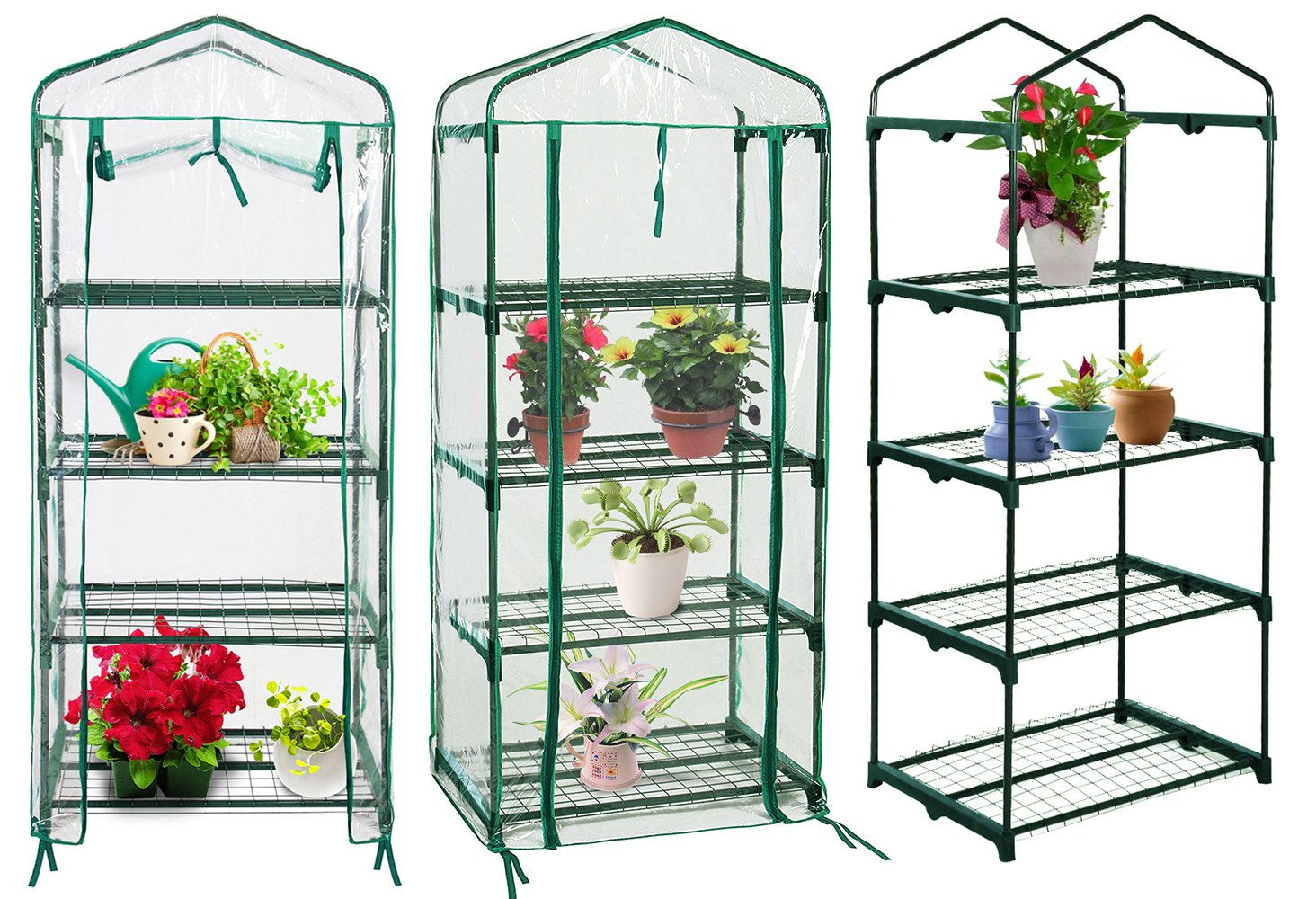 Quictent Hot 4 tier Mini Portable Green Hot Seeds House Indoor Outdoor w/Shelves Greenhouse by Quictent