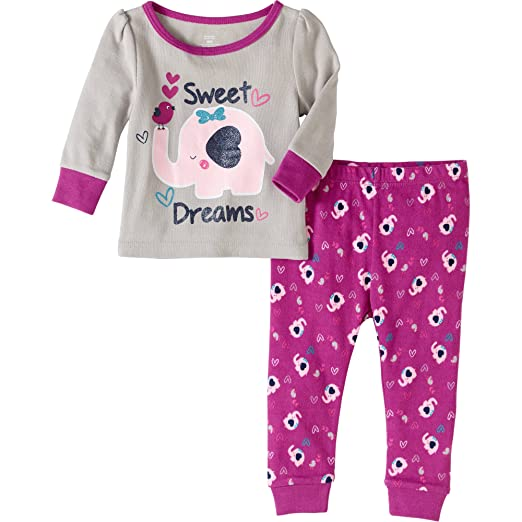 ad6f66479 Amazon.com  Baby and Toddler Girls Snug Fit Graphic Pajama Long ...
