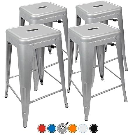24u201d Counter Height Bar Stools! (SILVER) by UrbanMod [Set Of  sc 1 st  Amazon.com & Amazon.com: 24u201d Counter Height Bar Stools! (SILVER) by UrbanMod ... islam-shia.org