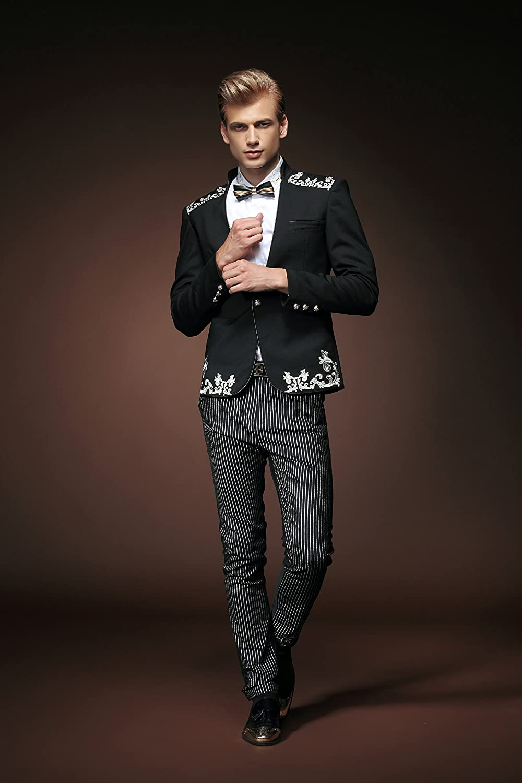 febd1cc52537 FANZHUAN Men Lush Fashion Flower Blazer Slim Fit Casual  Amazon.co.uk   Clothing