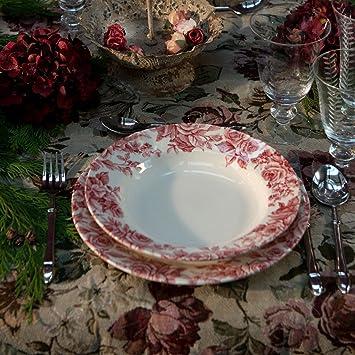 72b94d798093ce Service d Assiettes 18 Pièces - Service de Table 18 Pièces Shabby Chic et  Romantique