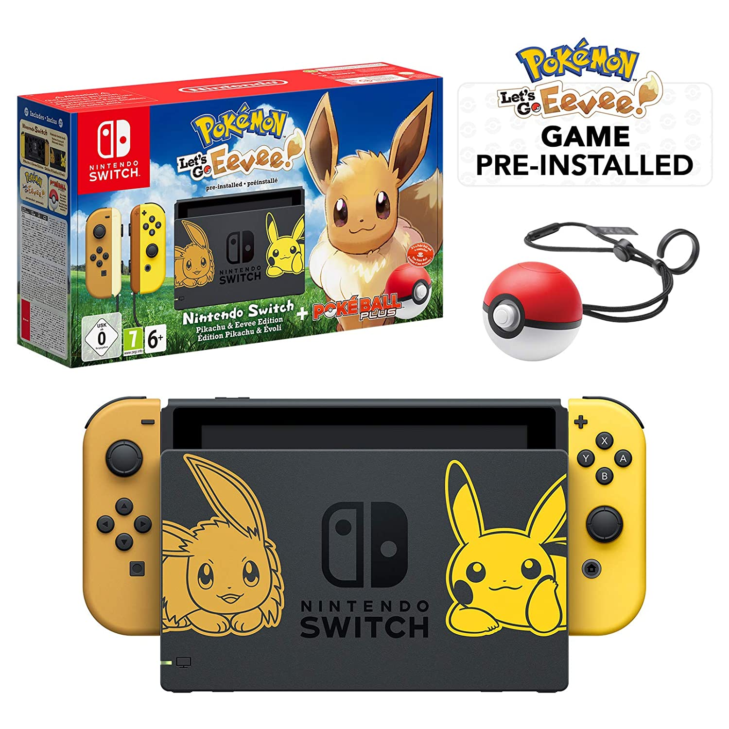 Nintendo Switch Let S Go Eevee Limited Edition Console With Joycon