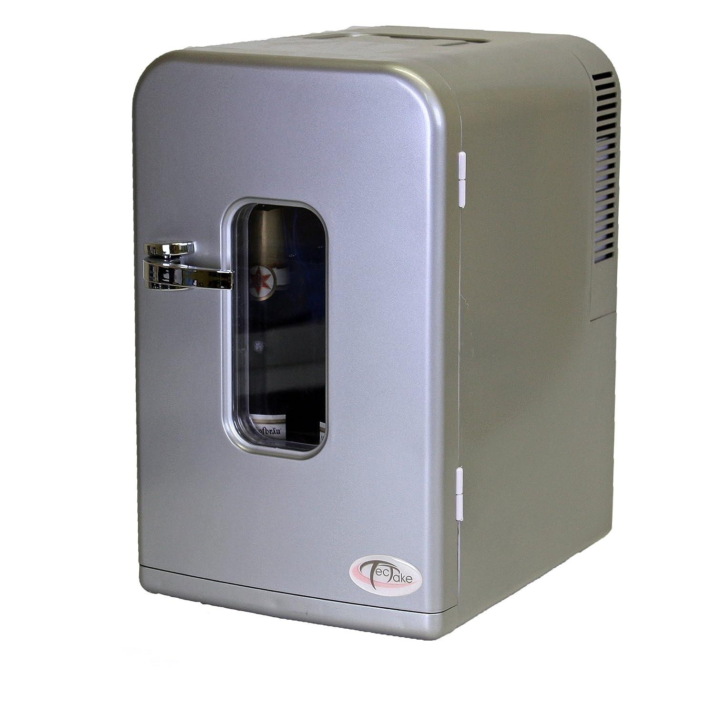 TecTake® Transportabler Minikühlschrank Silber 15 Liter für Auto ...