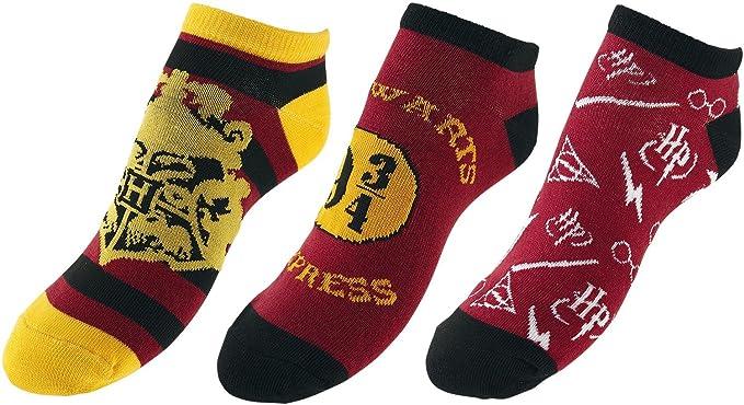 Meroncourt Harry Potter Ankle Socks Hogwarts, Calcetines de Estar por Casa para Mujer, 100 DEN, Rosso, 37-40: Amazon.es: Ropa y accesorios