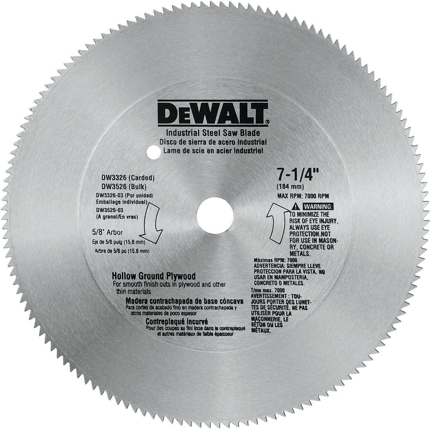 hollow ground circular saw blade