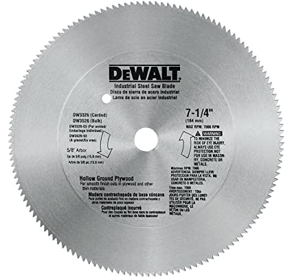 Dewalt dw3326 7 14 inch 140 tooth hollow ground plywood cutting saw dewalt dw3326 7 14 inch 140 tooth hollow ground plywood cutting saw greentooth Choice Image