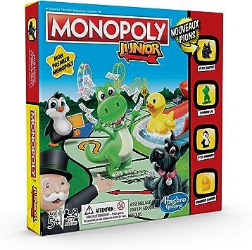 MONOPOLY - Junior, el juego para ni�os - Juego de mesa, versi�n francesa del juego de mesa: Amazon.es: Juguetes y juegos