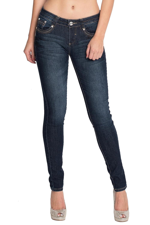 e7ed44eecb8814 best Womens Skinny Jeans Denim Stretch Pants C2279-dark ...