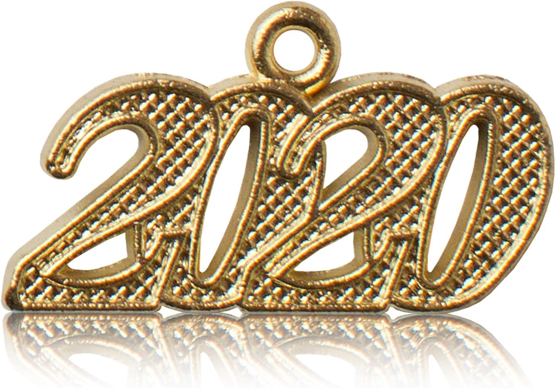 2019 Gold Metal Graduation Tassel Charm Year Date for Cap or Bracelet Qty: 1