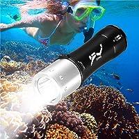 BlueFire Linterna de Mano LED Superior XML-L2 Resistente al Agua Linterna de Acampada Foco Ajustable Zoom táctica Linterna para Deportes al Aire última intervensión