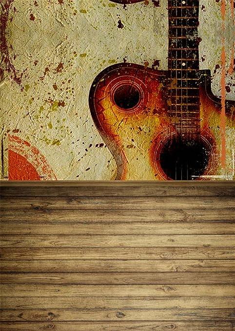 Abstracto guitarra pared Vintage Foto Telón de fondo impreso con ...