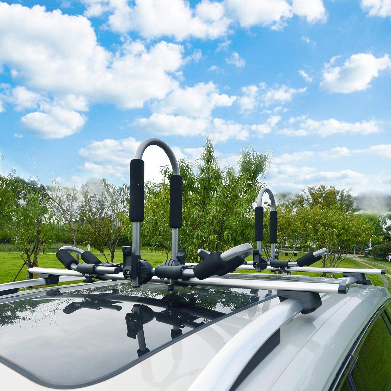 Folding J-Racks Rooftop Kayak Carrier Canoe Car Rack for 2 Kayaks Codinter Kayak Roof Rack