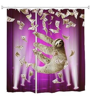60 w x 72 h cute sloth wearing sunglasses theme print 100