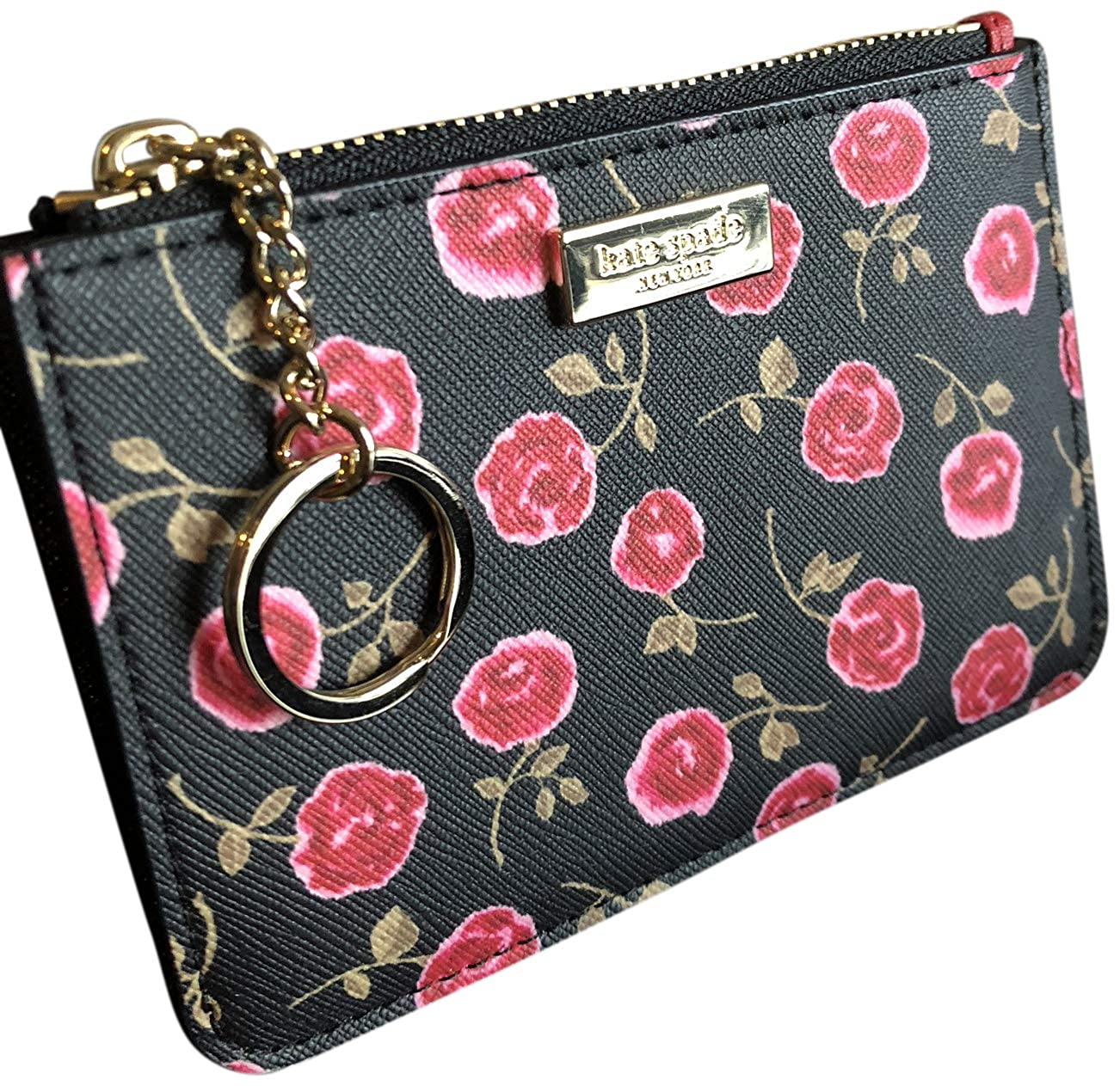Kate Spade New York Laurel Way Bitsy Card Case Wallet Key Ring Hazy Rose