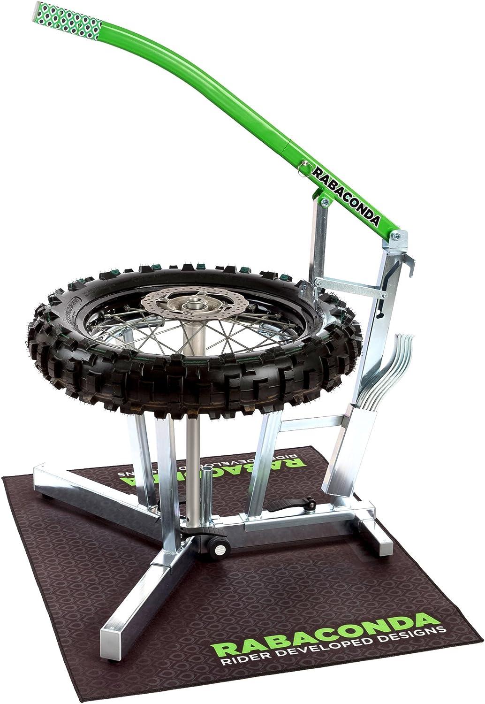 Rabaconda Reifenmontiergerät Für Motorrad Geländemotorrad Motocross Tragbar Für Räder Reifen Werkzeug Zum Entfernen Auto