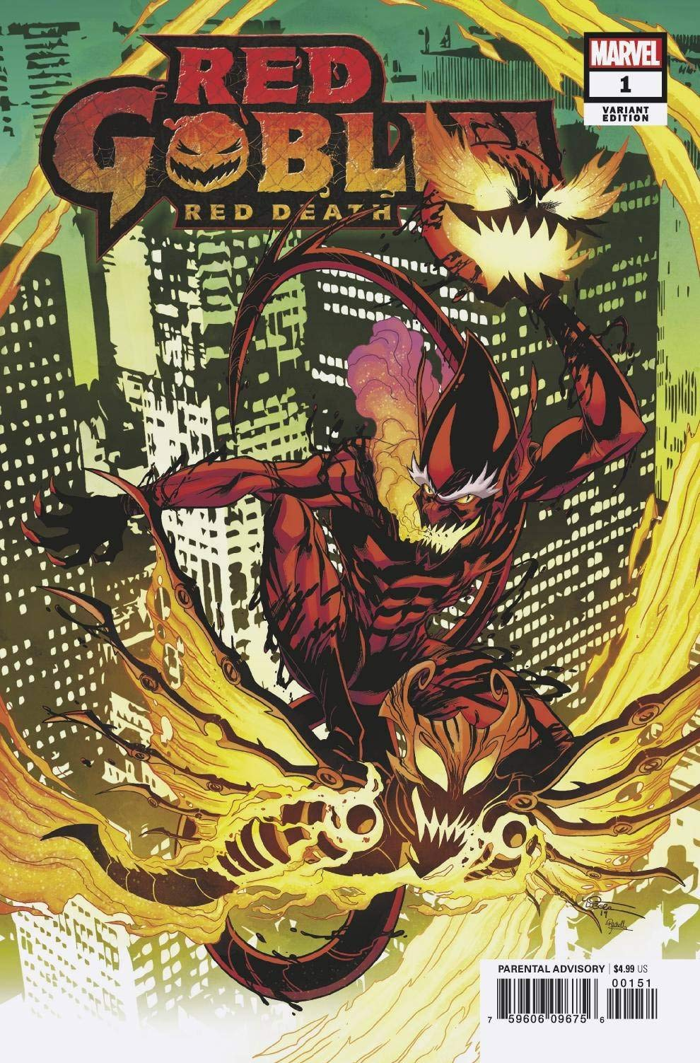 RED GOBLIN RED DEATH #1 LUBERA VARIANT MARVEL COMICS EB93 10//30//2019