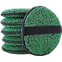 Polyte - Microvezel-pad om te poetsen en reinigen - 6-pack - groen - 12,7 cm rond