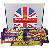 Cadbury Selection Box of 10 Full Size British Chocolate Bars from Great British Treats