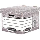 Fellowes 00810-FFEU Caisse standard pour archives Banker Box System - Montage automatique Gris (lot de 10)