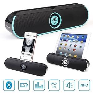 SAVFY Portable Wireless Bluetooth Speaker,Build in Microphone ,Black
