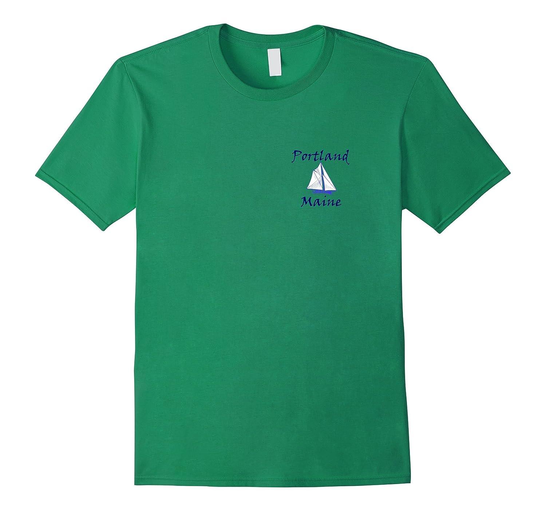 Portland Maine Sailboat T-Shirt-FL