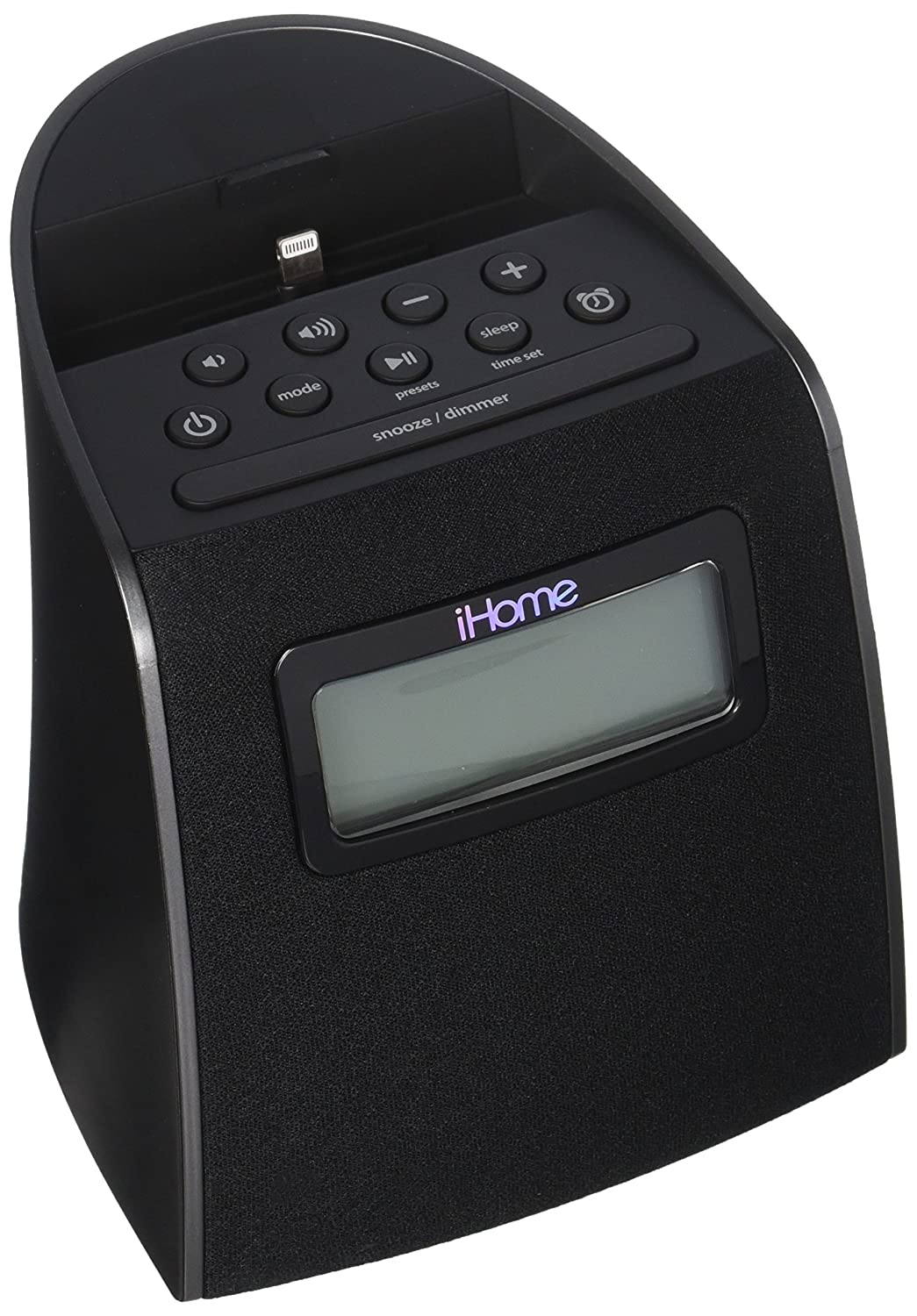 iHOME IPL22G iPhone/iPod Clock Radio with Lightning Connector (Black)