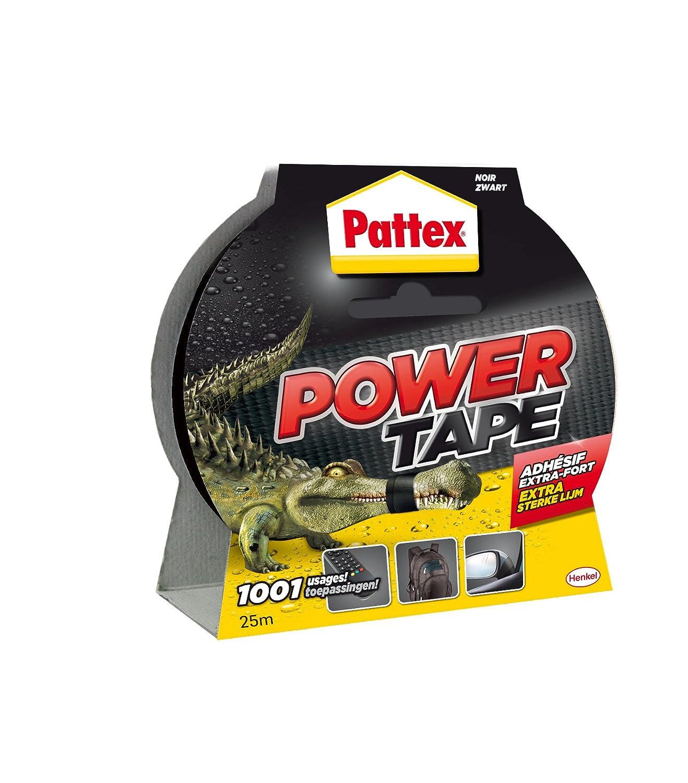 Pattex Power Tape 1669824 - Cinta adhesiva para reparaciones en caja (10 m), color negro