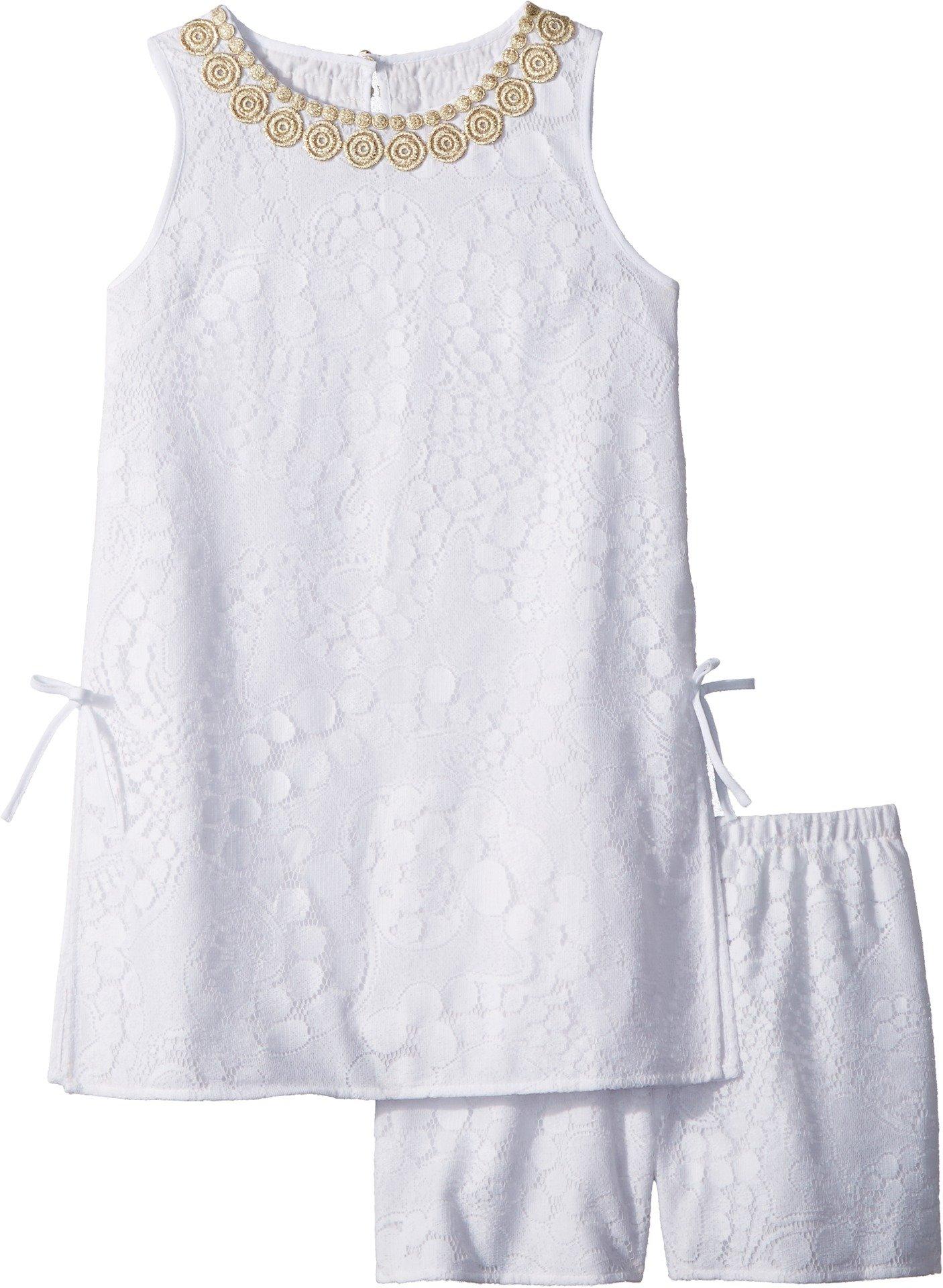 Lilly Pulitzer Kids Baby Girl's Mini Donna Set (Toddler/Little Kids/Big Kids) Resort White Mocean Lace 10