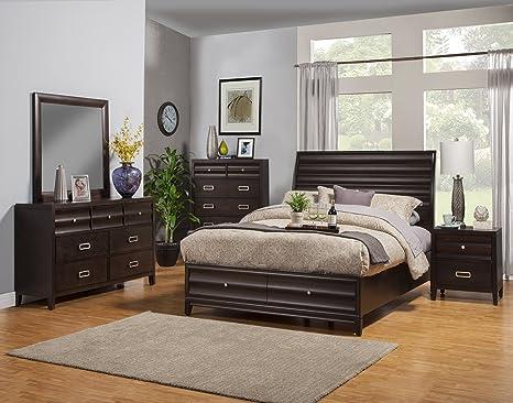 Amazon.com: Alpine Furniture Legacy 5 Piece Bedroom Set, California ...