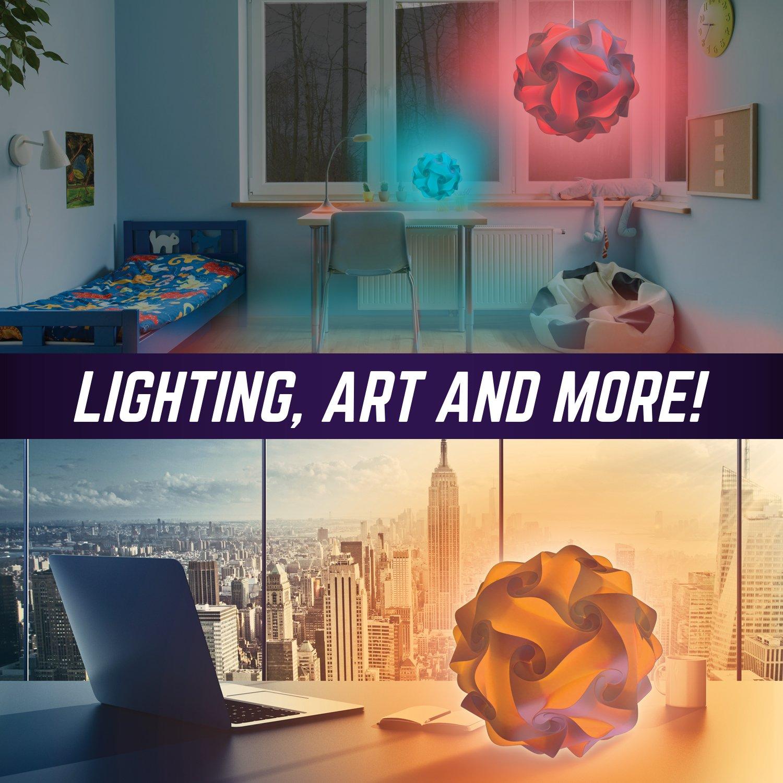 art lighting wireless. GEOSPHERE 16 Inch - 30 Pc White Lamp Kit Complete With Wireless LED Light Amazon.com Art Lighting N