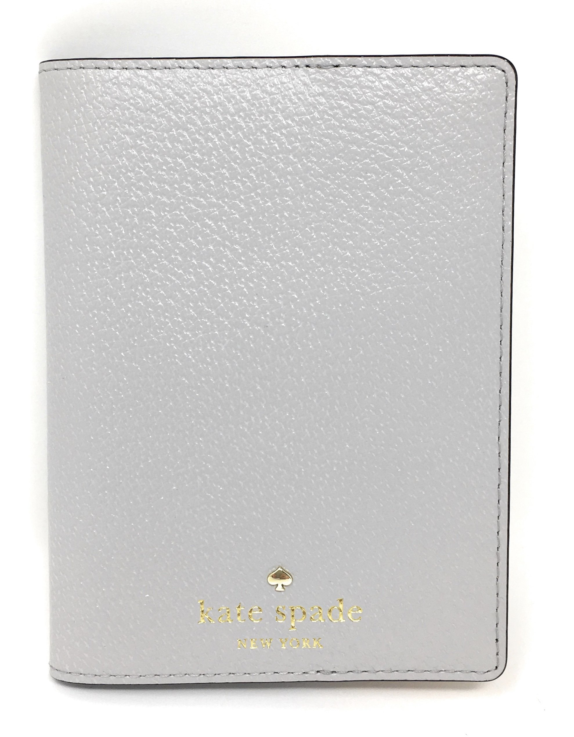 Kate Spade New York Grand Street Leather Passport Holder (Stone Ice)